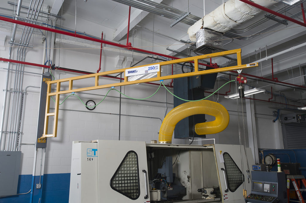 Wall-Mounted Workstation Jib Cranes – 501 Series
